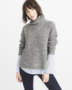 Abercrombie & Fitch Shaker Turtleneck Sweater