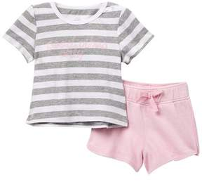 AG Jeans Stripe Jersey Top & Terry Shorts Set (Baby Girls)