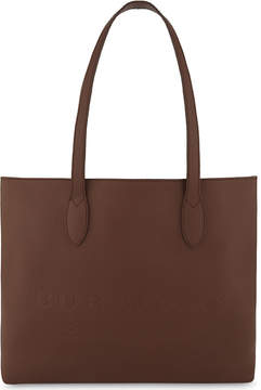 Burberry Medium leather tote - CHESNUT BROWN - STYLE