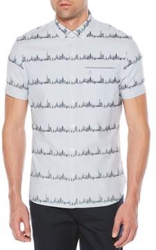Original Penguin Men's City Slim Fit Stripe Oxford Shirt