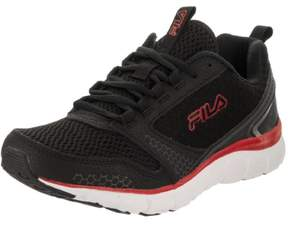 Fila Men's Memory Windstar Black/Black Red Running Shoe 10 Men US
