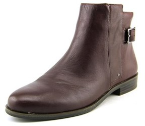 Alfani Acke Women Round Toe Leather Burgundy Ankle Boot.