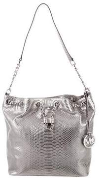 MICHAEL Michael Kors Embossed Leather Shoulder Bag