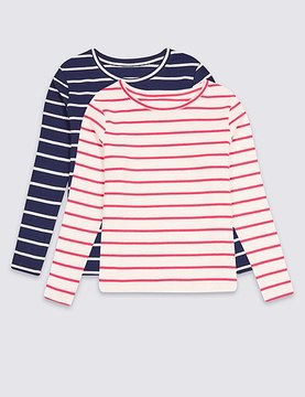 Marks and Spencer 2 Pack Cotton Tops with Stretch (3 Months - 5 Years)