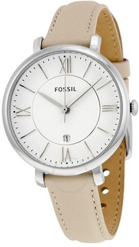 Fossil Jacqueline White Dial Ladies Leather Watch