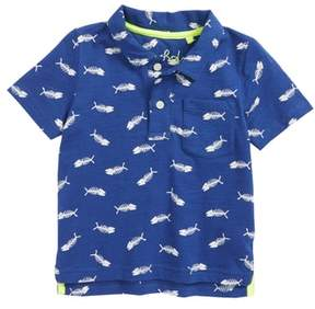 Boden Mini Fish Print Polo