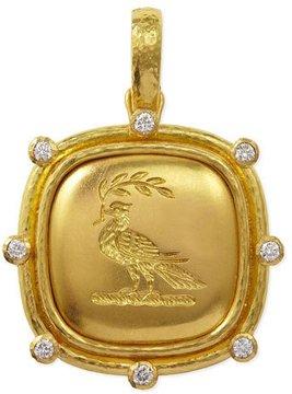 Elizabeth Locke 19k Gold Dove with Branch Pendant