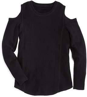 Aqua Girls' Cold-Shoulder Cashmere Sweater - Big Kid