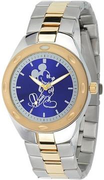 Disney Mickey Mouse Men's Fortaleza Stainless Steel Watch, Two-Tone Bracelet