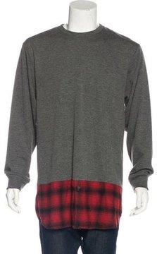 Public School Plaid-Accented Sweatshirt