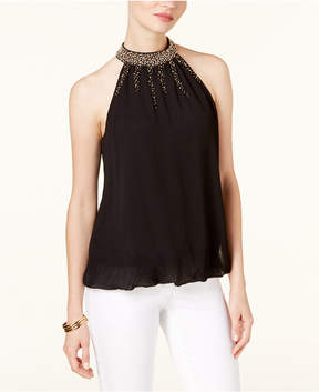 Alfani Embellished Bubble-Hem Top, Created for Macy's