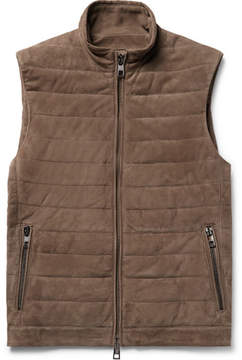 Michael Kors Quilted Suede Gilet
