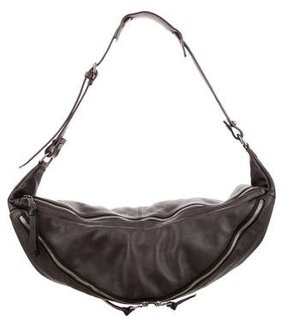 Dolce & Gabbana Large Leather Hobo - BROWN - STYLE