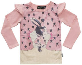 Rock Your Baby Pink Rabbit Long-Sleeve Top