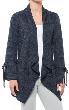 August Silk Drawstring Open-Front Cardigan Sweater (For Women)