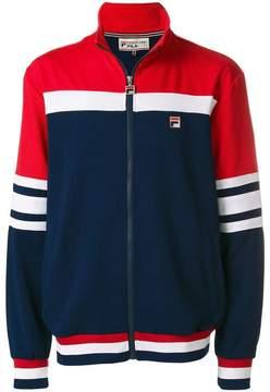 Fila panelled zip up sports jacket