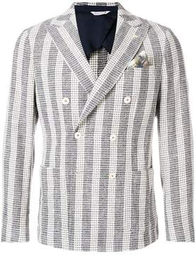 Manuel Ritz striped button blazer