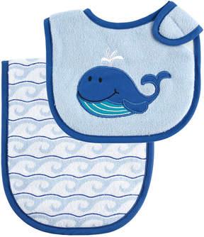 Luvable Friends Blue Whale Bib & Burp Cloth