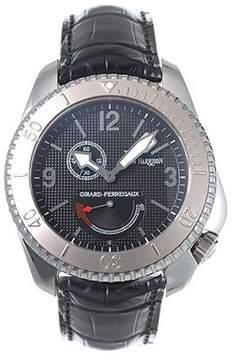 Girard Perregaux Seahawk II Stainless Steel Black Leather Men's Watch