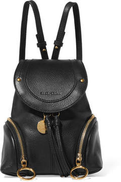 See by Chloé - Olga Small Textured-leather Backpack - Black