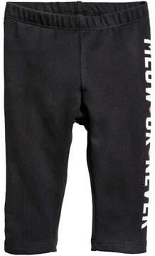 H&M Leggings with Motif - Black