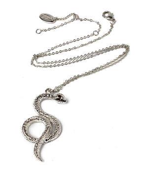 Amrita Singh Silvertone Anaconda Pendant Necklace