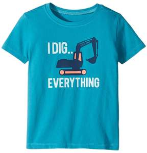 Life is Good I Dig Everything Crusher Tee Boy's T Shirt