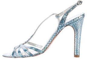 Marc Jacobs Snakeskin Slingback Sandals