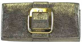 Michael Kors Metallic Gold Clutch w/ Buckle - GOLD - STYLE