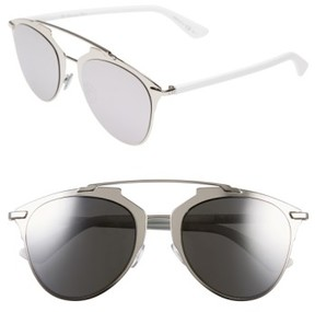 Christian Dior Women's Reflected 52Mm Brow Bar Sunglasses - Palladium/ White