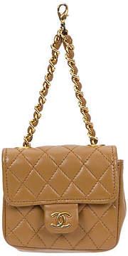 One Kings Lane Vintage Chanel Camel Lambskin Charm Bag