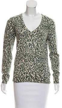 Equipment Leopard Cashmere Sweater