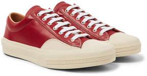 Dries Van Noten Suede-Trimmed Leather Sneakers