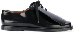 Marni frill spat lace up shoes