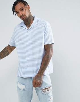 Jaded London Shirt In Blue Stripe