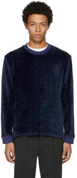 Fanmail Navy Velour Sweatshirt