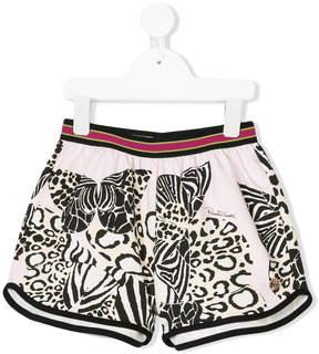 Roberto Cavalli multi animal print shorts