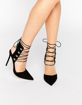 Asos POSER Pointed Lace Up Heels