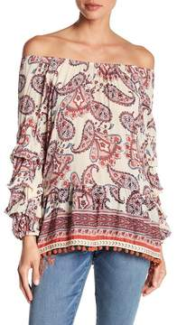 Democracy Ruffled Off-the-Shoulder Blouse