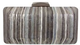 Sondra Roberts Metallic Striped Convertible Clutch