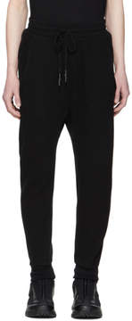 11 By Boris Bidjan Saberi Black Waffle Lounge Pants