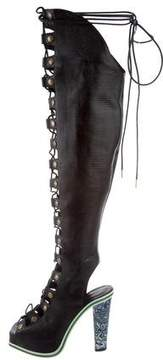 Rodarte Lace-Up Over-The-Knee Boots