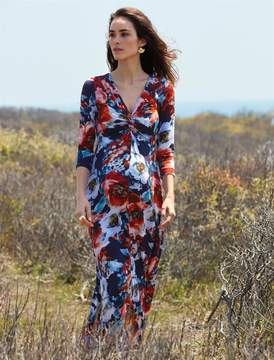 A Pea in the Pod Knot Front Maternity Maxi Dress