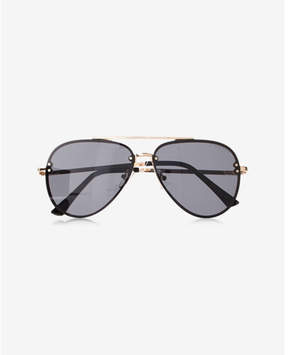 Express rimless aviator sunglasses