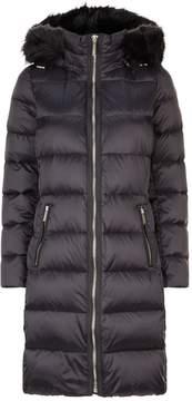 Down Puffer Coat in black