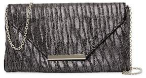 Jessica McClintock Riley Glittery Satin Clutch