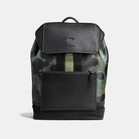 Coach Manhattan Backpack With Wild Beast Print