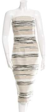 Christian Siriano Patterned Strapless Dress w/ Tags
