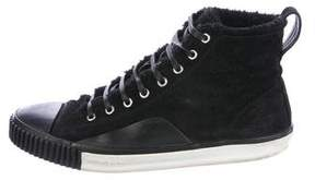 Balenciaga Shearling-Lined Suede Sneakers