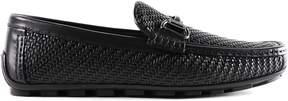 Ermenegildo Zegna Woven Leather Driving Shoes